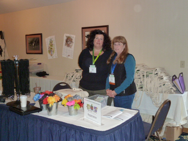 Registration Table, Holly Stewart and Karen Sweeney